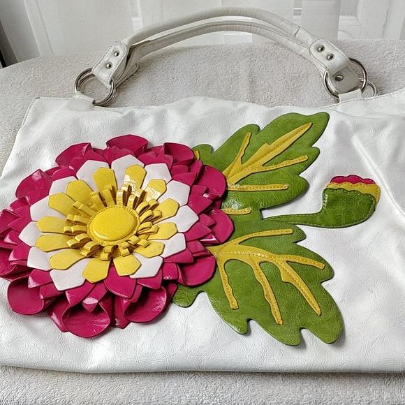 Flower bag - 3D detail, colorful, handbag
